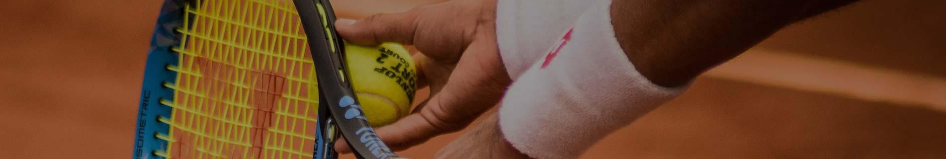 Person mit Tennisschläger